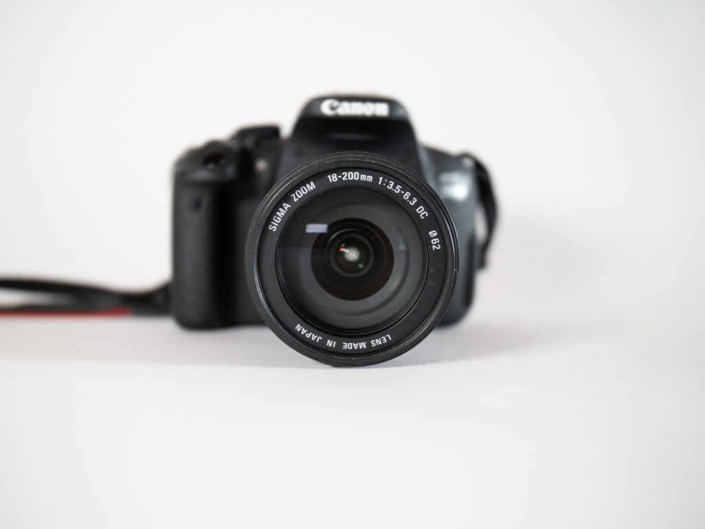 Kamera-Objektiv-Yoga-Fotografie
